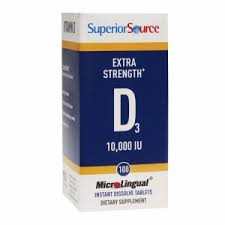 Superior Source Microlingual Vitamin D3 10,000 IU