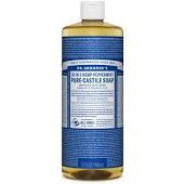 Dr Bronner Peppermint Pure-Castile Soap (32oz)