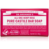 Dr Bronner Rose Pure-Castile Bar Soap