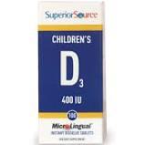 Superior Source Children's Vitamin D3 400 IU MicroLingual