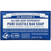 Dr Bronner Peppermnt Pure-Castile Bar Soap