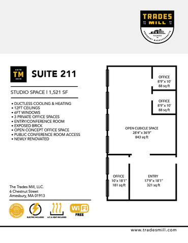 Trades Mill - Suite 211