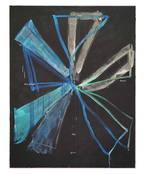 3 Mercoledi,  Blue green blue drip, 2020