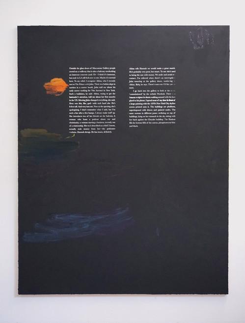Ekphrasis at Night, 2020, 180x140cm, a