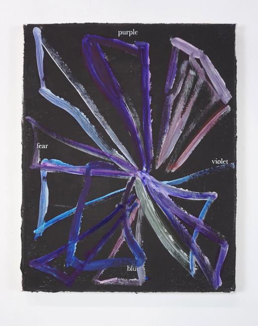 Purple violet blue fear, 2020, 50x40cm,
