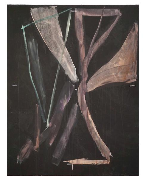 Brown green poem violet, 2020,  180x140c