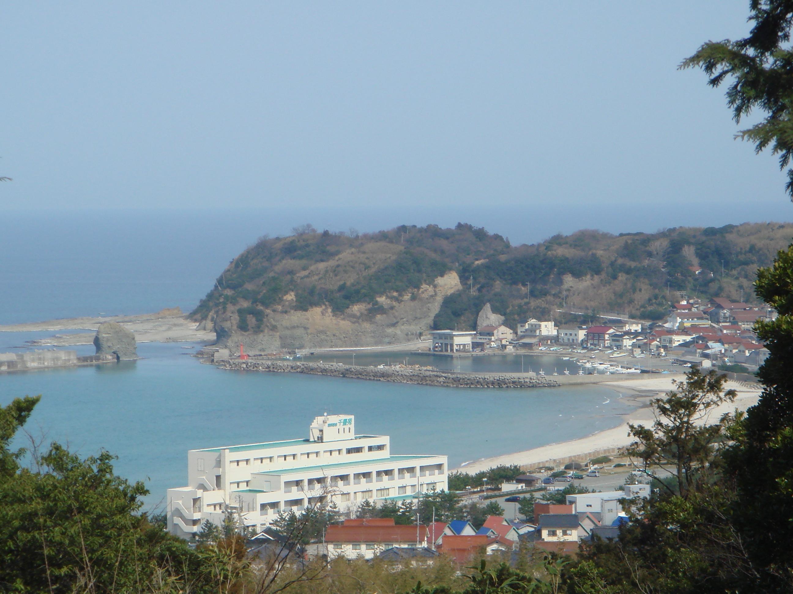当山弥山から望む日本海