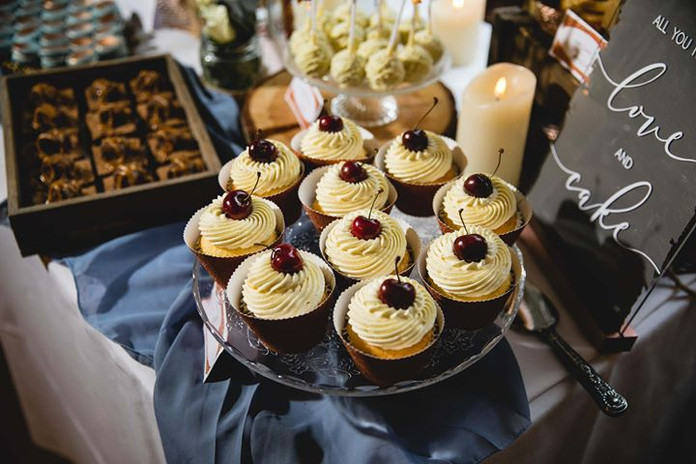 "Cherry Bakewell ""Happy"" Cupcakes"