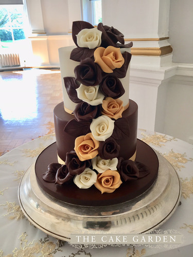 Cascade of Chocolate Roses