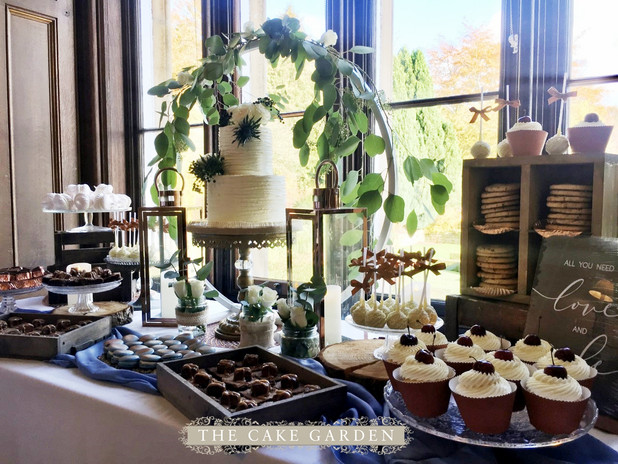 Rustic French inspired dessert table