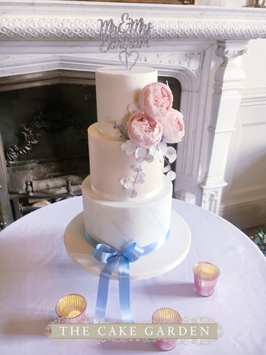 3 tier ised with sugar peonies