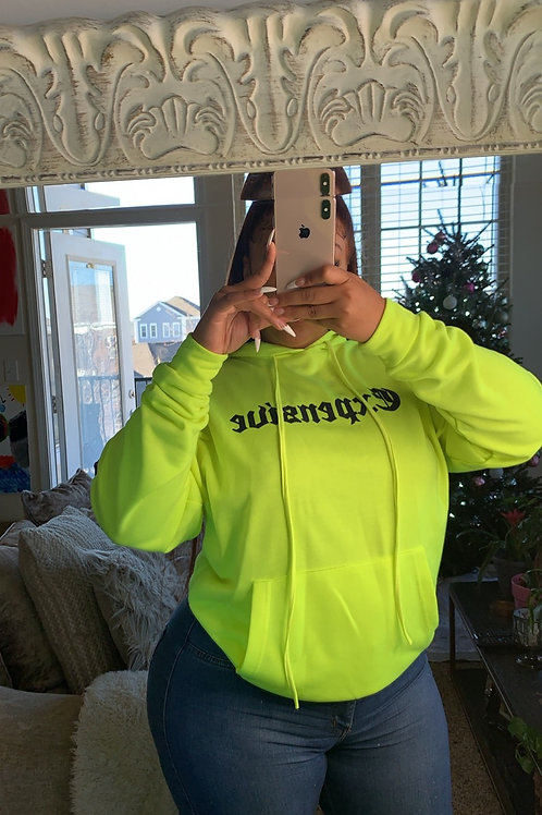 EXPENSIVE HOODIE LIME GREEN