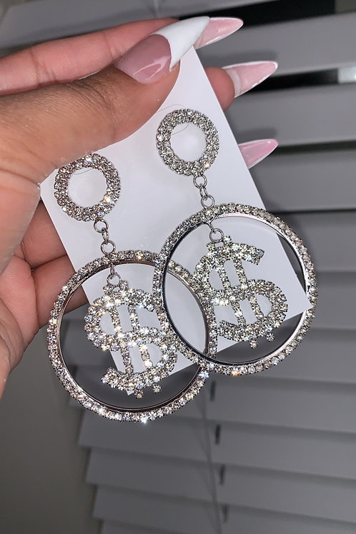 Money Hoop Earrings