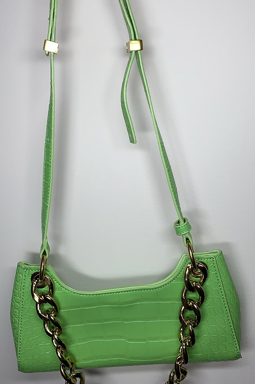 Out For Brunch Bag (lime green )