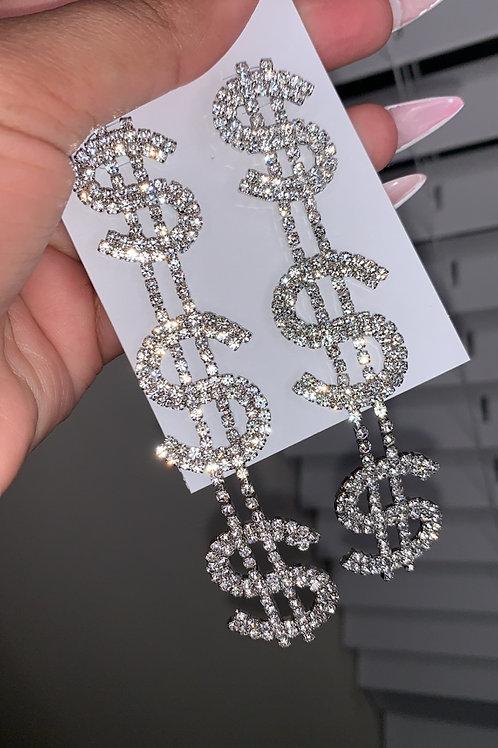 Money Hanging Earrings