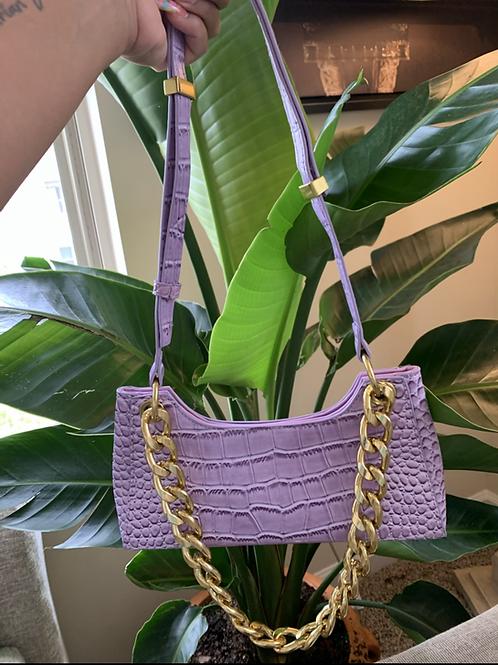Out For Brunch Bag (pastel lavender )