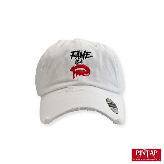 """PINTAP Distressed Dad Hat """"Fame Is A Vampire"""""""