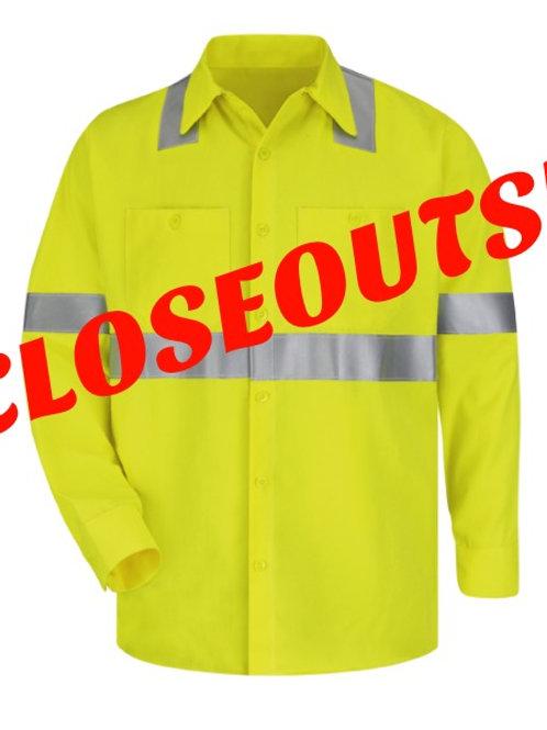 Men's FR Closeout Hi-Vis Button Down Shirt