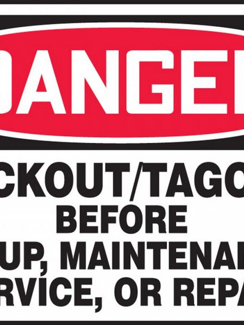 OSHA Danger Lockout/Tagout