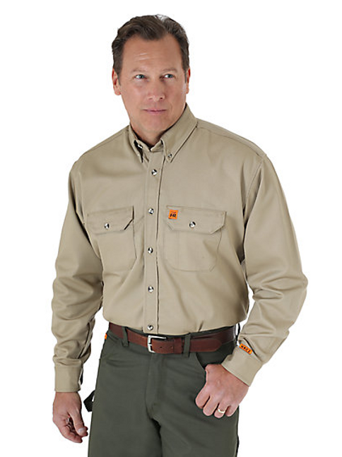 Men's Wrangler FR Button Down Work Shirt