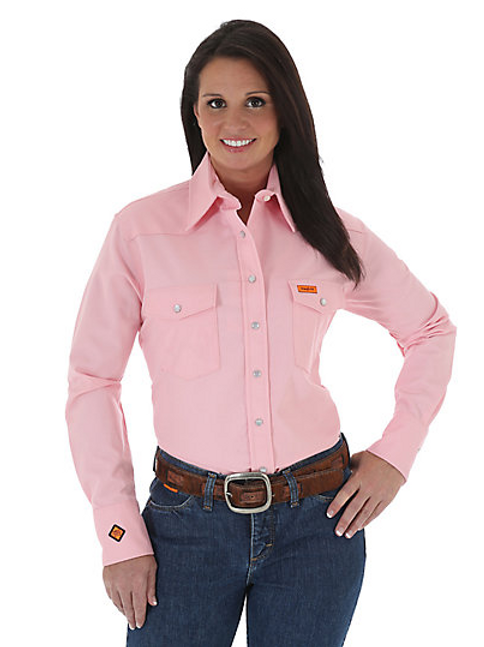 Women's Wrangler FR Button Down Work Shirt
