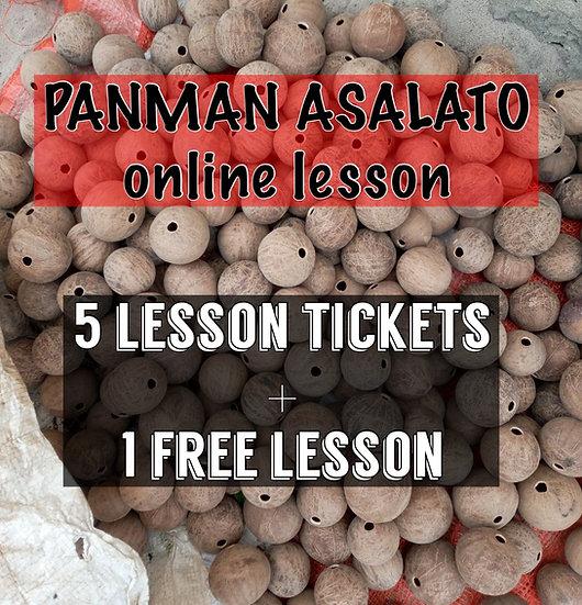 ASALATO Online Lesson 5+1Ticket アサラトオンラインレッスン5回分+1回チケット