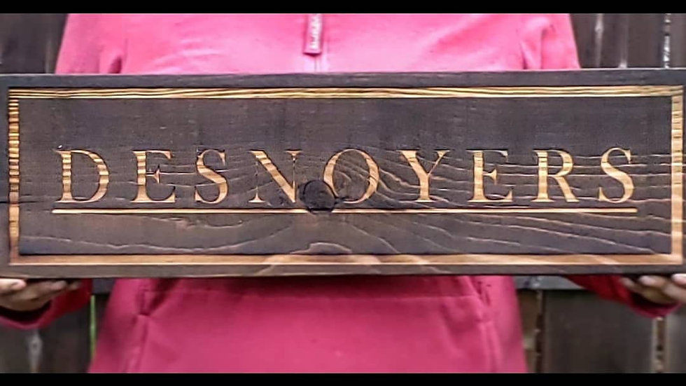 Family Name Plaques