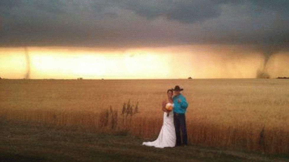 Tornado Wedding Photo