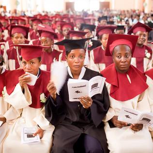 Graduation ceremony for the teachers' college at the Université Publique du Sud aux Cayes. Les Cayes. Haiti