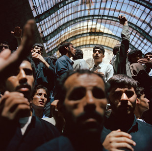 At the Imam Khomeini's shrine in the south of Tehran people are mourning the leader on the 16th anniversary of his death. Iran, Tehran, June 2005.