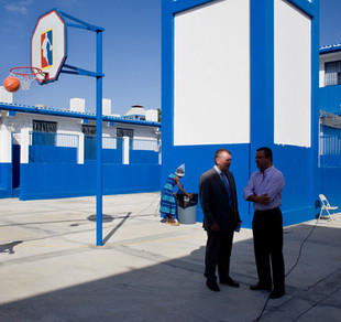 Opening of the new prison in Croix-des-Bouquets, north of Port-au-Prince. The penitentiary was financed by Canadian money. The cells are supposed to hold only those found guilty, whereas convicted criminals make up only a small fraction of the inmates in Haitian prisons. Croix-des-Bouquets. Haiti