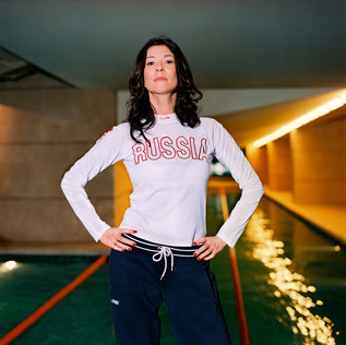 Olga Slutsker, 41, is a former fencing champion and runs World Class, a chain of luxury fitness clubs, which she founded in 1993.  To underwrite its expansion, she plans to sell a share in her company for 30 million dollars to a firm owned by the oligarch Mikhail Friedman.  Photographed here in her club on Romanov Street.