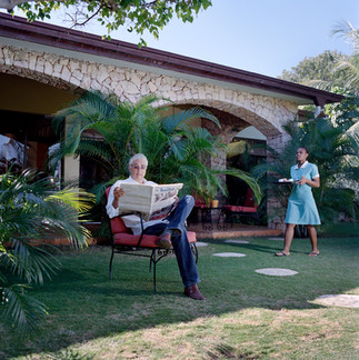 Grégory Brandt is a businessman whose German grandfather emigrated from Jamaica at the beginning of the last century. He presides over the Franco-Haitian Chamber of Commerce. The garden of his residence, Pétion-Ville. Haiti