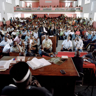 In 2012, hundreds of inhabitants of the city of Les Cayes followed the trial of 13 policemen. The prison administration and the local police force were accused of the murder of more than 20 inmates during a riot in the jail there. Several of the accused were found guilty. Les Cayes. Haiti