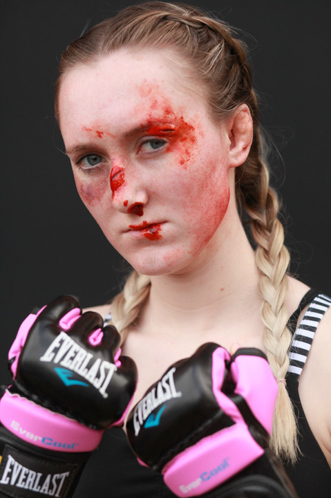 Female UFC Fighter using 3D Transfers
