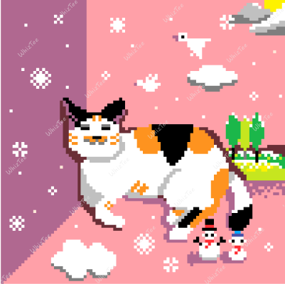 The Daydreaming Cat wishing for snow