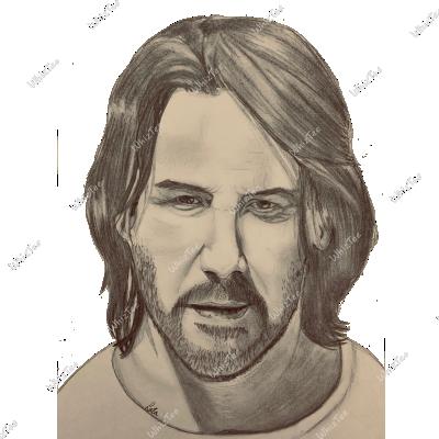 Hand-drawn John Wick