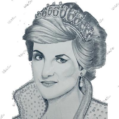 Hand-drawn Lady Diana