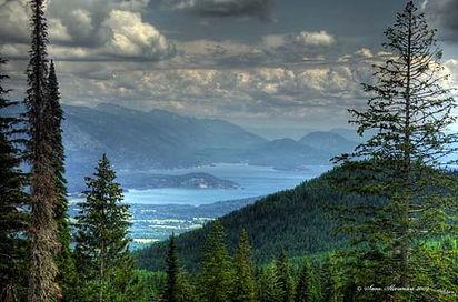 Beautiful Lake Ponderay, Sandpoint Idaho
