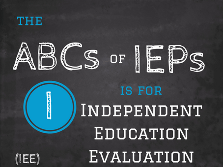 IEEs: The Basics   ( Part one of Amy's four part series on IEEs)