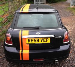 BMW Mini stripes