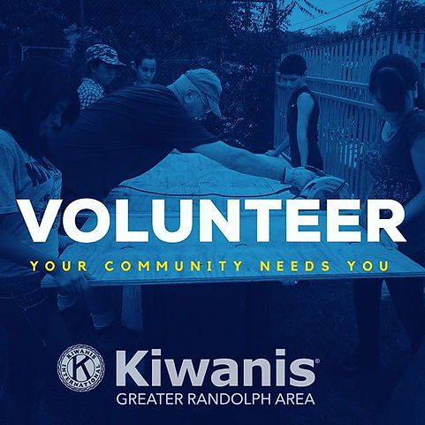 VOLUNTEER with Kiwanis because your comm