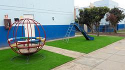 Grass sintético área juegos de niños