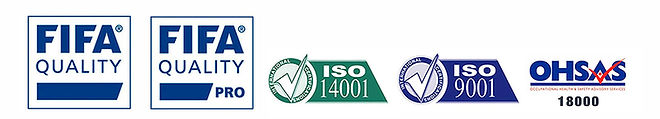 CERTIFICACIONES INTERNACIONALES, FIFA QUALITY, FIFA QUALITY PRO, ISO 14001, ISO 9001