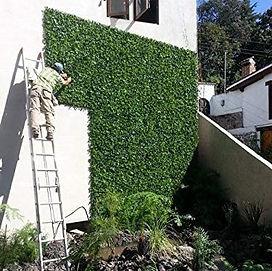 instalacion de follajes artificiales  verticales