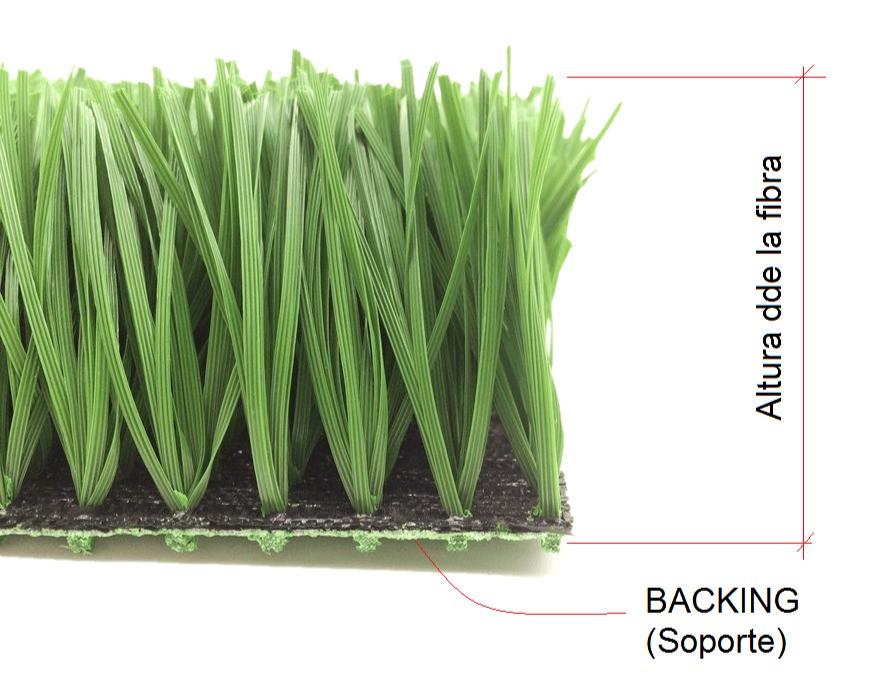 Altura del grass sintetico, apoyo o backin del césped artificial