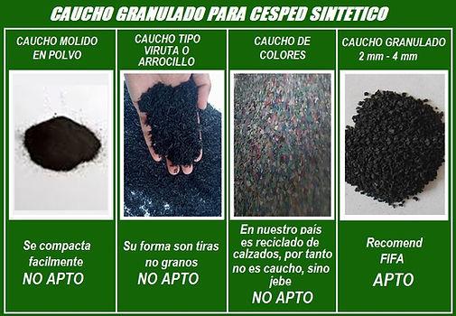 QUE TIPO DE CAUCHO UTILIZAR CAUCHO GRANULADO