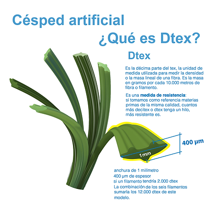 DTEX DE GRASS SINNTERTICO