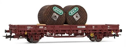 Rivarossi Spur H0 Niederbordwagen Kbs der ÖBB mit 2 Kabeltrommeln der SKW