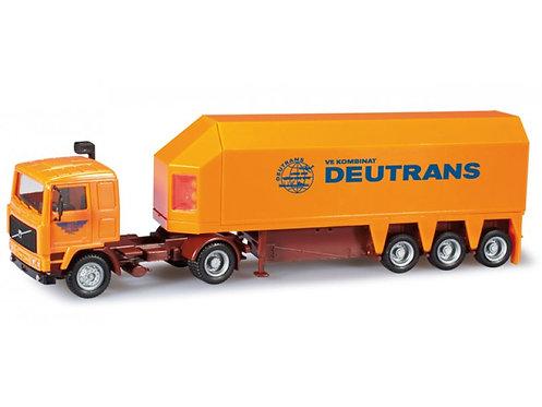 "Herpa Spur H0 Volvo Glastransporter-Sattelzug ""VEB Kraftverkehr Waldheim"""